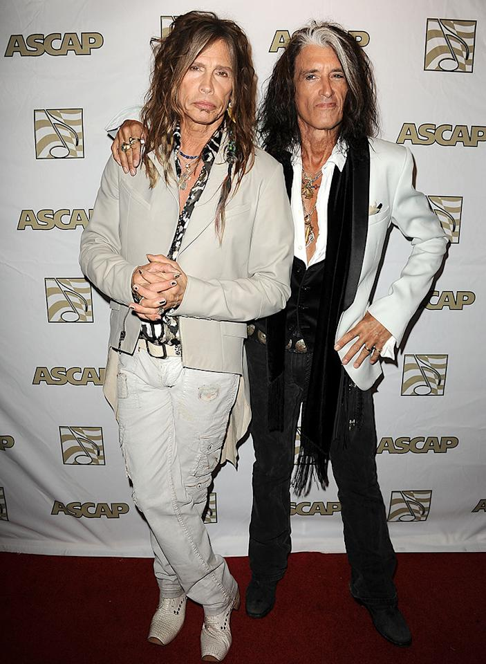 We live for music legends Steven Tyler and Joe Perry, but we just think the Aerosmith rockers could stand to use a little conditioner ... and maybe a mirror. (4/8/2013)