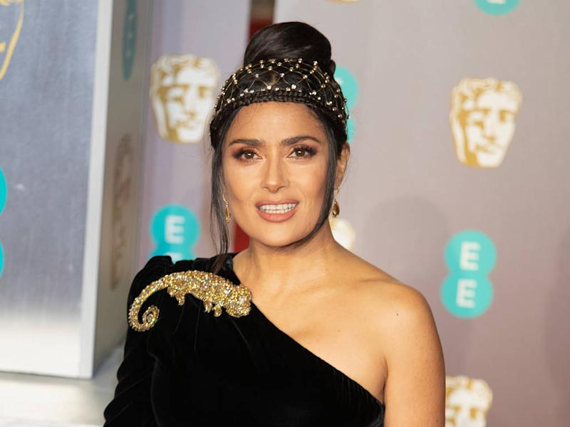 Salma Hayek takes credit for starting tiara trend in the '90s