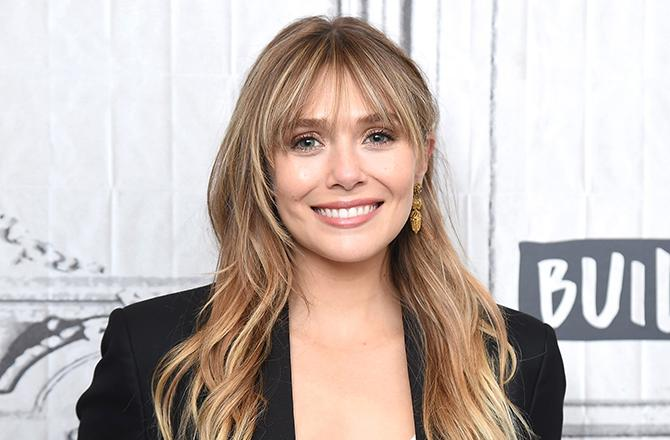"""NEW YORK, NEW YORK - OCTOBER 08: Actress Elizabeth Olsen visits the Build Series to discuss the Facebook Watch Original Series """"Sorry for Your Loss-Season 2"""" at Build Studio on October 08, 2019 in New York City. (Photo by Gary Gershoff/Getty Images)"""