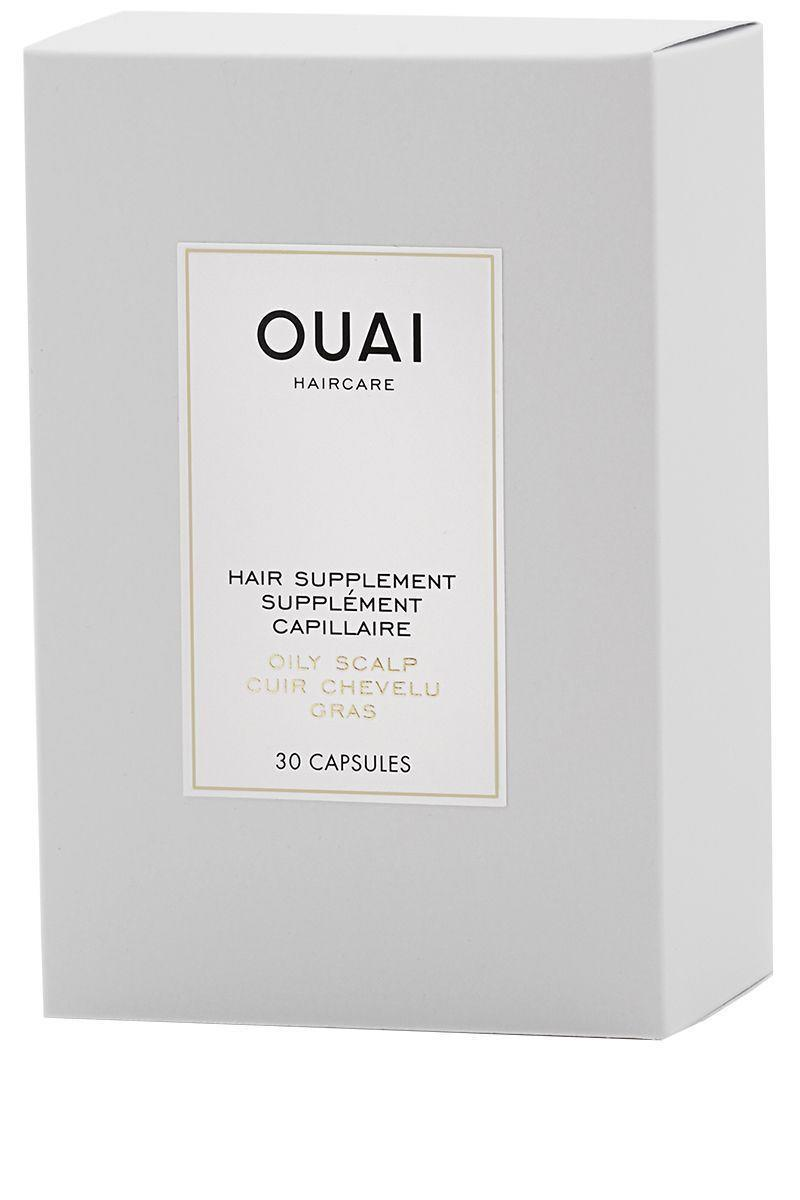 """<p><strong>Ouai</strong></p><p>sephora.com</p><p><strong>$28.00</strong></p><p><a href=""""https://go.redirectingat.com?id=74968X1596630&url=https%3A%2F%2Fwww.sephora.com%2Fproduct%2Fhair-supplement-for-oily-scalp-P409848&sref=https%3A%2F%2Fwww.harpersbazaar.com%2Fbeauty%2Fhair%2Fg7807%2Fhair-growth-vitamins%2F"""" rel=""""nofollow noopener"""" target=""""_blank"""" data-ylk=""""slk:Shop Now"""" class=""""link rapid-noclick-resp"""">Shop Now</a></p><p>Your scalp after all, is an extension of your skin, and this supplement acts like an ingestible oil blotter, reducing grease at the roots to stretch the days between shampoos. Evening primrose and niacin regulate oil while biotin and omegas 3 & 6 add length and luster over time.</p>"""
