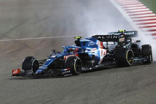 Sebastian Vettel crashed into the back of Alpine's Esteban Ocon in Bahrain