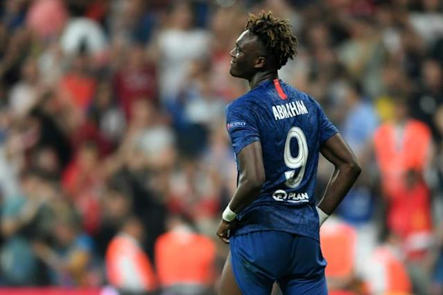 Chelsea's English striker Tammy Abraham also got abuse after failing his penalty during the shoot-out at the UEFA Super Cup (AFP Photo/OZAN KOSE)