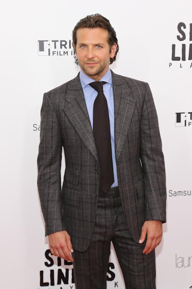 NEW YORK, NY - NOVEMBER 12:  Actor Bradley Cooper attends the premiere of The Weinstein Company's SILVER LININGS PLAYBOOK, presented by Samsung Galaxy and Laura Mercier, benefiting The Tribeca Film Institute at Ziegfeld Theatre on November 12, 2012 in New York City.  (Photo by Neilson Barnard/Getty Images for The Weinstein Company)