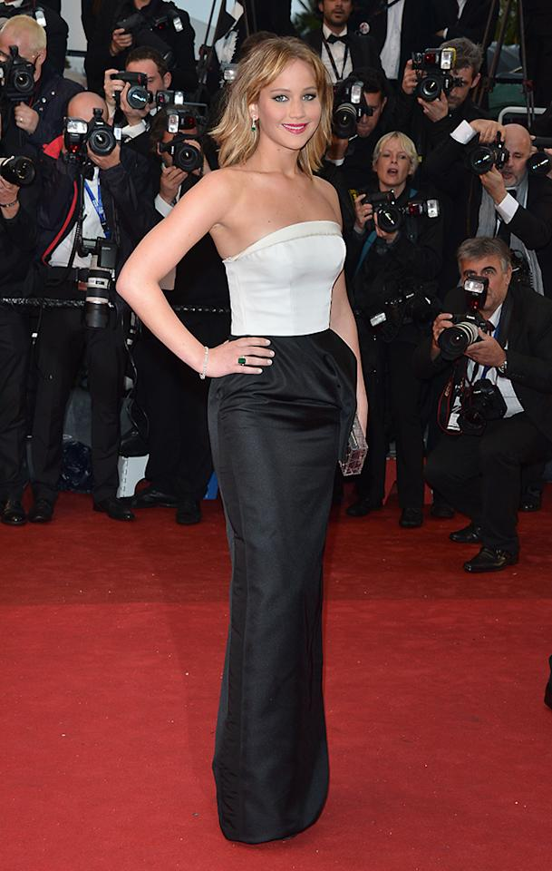 CANNES, FRANCE - MAY 18:  Actress Jennifer Lawrence attends the Premiere of 'Jimmy P. (Psychotherapy Of A Plains Indian)' at The 66th Annual Cannes Film Festival on May 18, 2013 in Cannes, France.  (Photo by George Pimentel/WireImage)