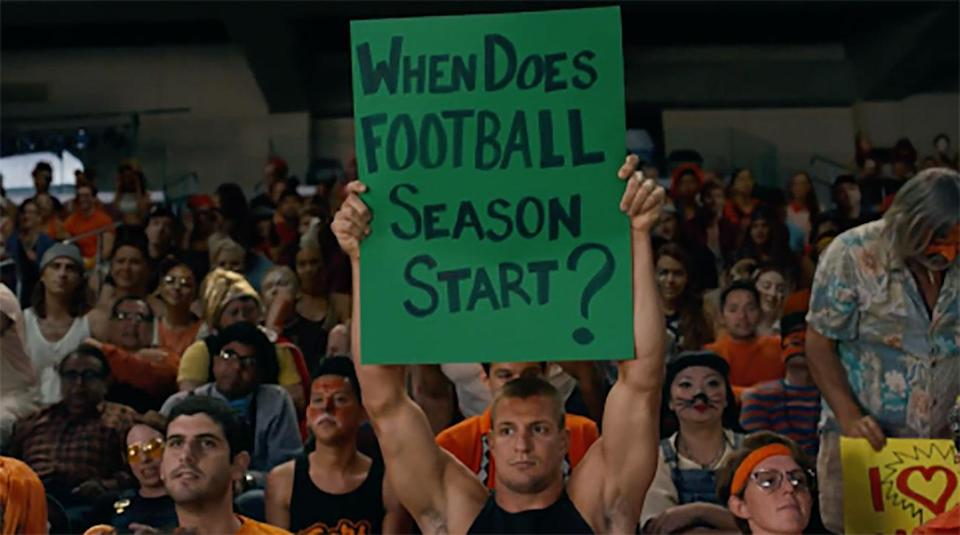 Rob Gronkowski is one of several sports figures to appear in Katy Perry's newest music video. (Vevo)