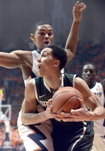 Michigan State, Trice withstand Illinois charge, 60-53