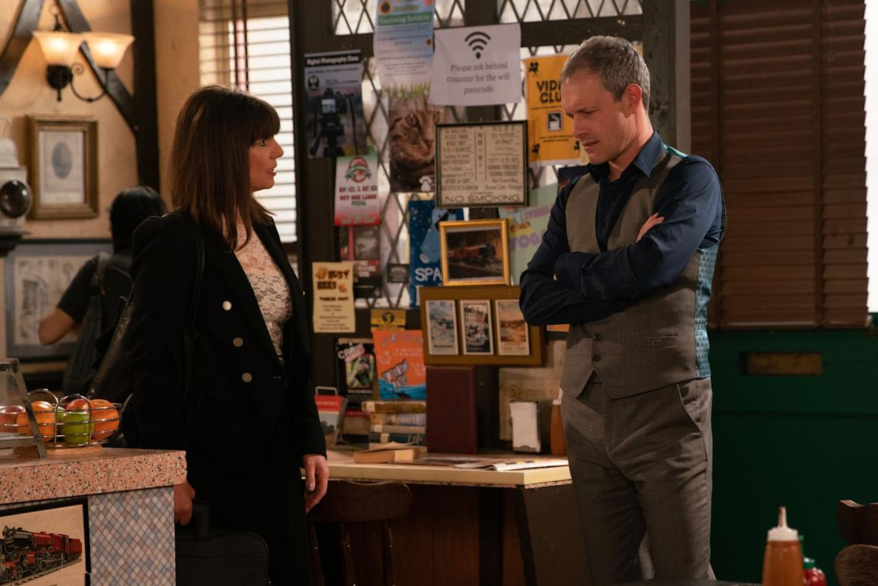<p>She reminds Nick that he's in breach of his bail conditions by approaching Audrey.</p>