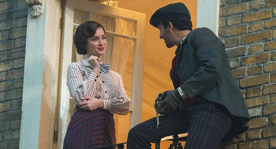 Emily Blunt and Lin-Manuel Miranda in this new look at <i>Mary Poppins Returns</i> (Disney)