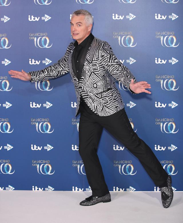 John Barrowman during the Dancing On Ice 2019 photocall at ITV Studios on December 09, 2019 in London, England. (Photo by Mike Marsland/WireImage)
