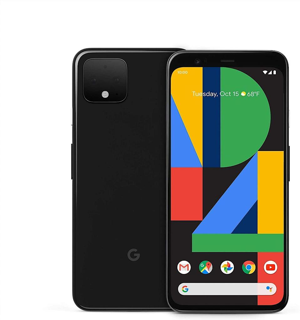 """<p><strong>Google</strong></p><p>amazon.com</p><p><strong>$449.00</strong></p><p><a href=""""https://www.amazon.com/dp/B07YMNLXL3?tag=syn-yahoo-20&ascsubtag=%5Bartid%7C10054.g.34313481%5Bsrc%7Cyahoo-us"""" rel=""""nofollow noopener"""" target=""""_blank"""" data-ylk=""""slk:Buy"""" class=""""link rapid-noclick-resp"""">Buy</a></p><p><strong><del>$799.00</del> (44% off)</strong><br><br>This smartphone kicks a whole load of ass, especially if you're not worried about making the jump to 5G just yet.</p>"""