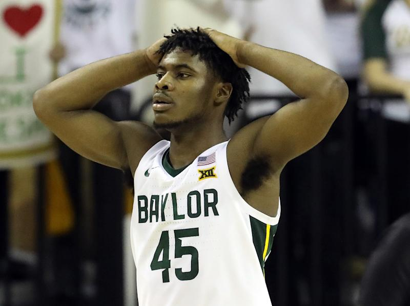 Davion Mitchell #45 of the Baylor Bears walks off the court during play against the Kansas Jayhawks on Feb. 22, 2020 in Waco, Texas. (Ronald Martinez/Getty)