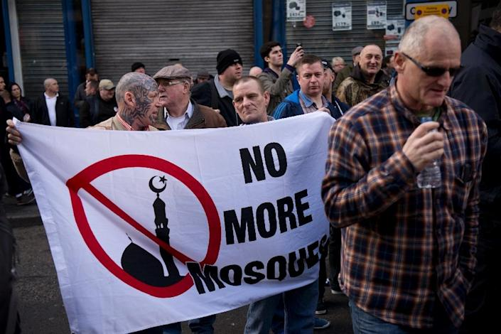 The Newcastle demonstration by the UK branch of the German group 'Pegida' in February was the first protest on British soil (AFP Photo/Oli Scarff)