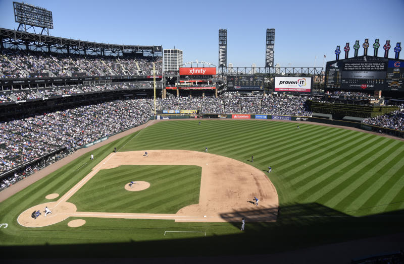Two former Chicago White Sox employees charged after in ticket fraud scheme. (Photo by David Banks/Getty Images)