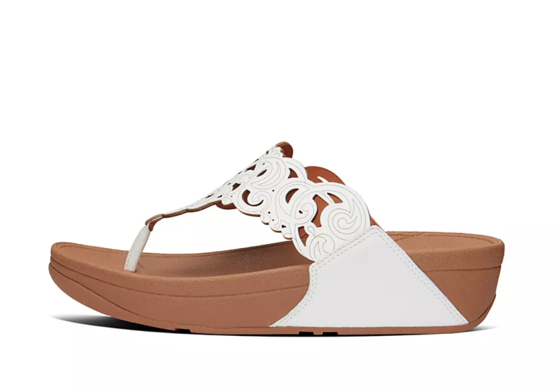 Flora Leather Toe-Post Sandals. Image via Fitflop.