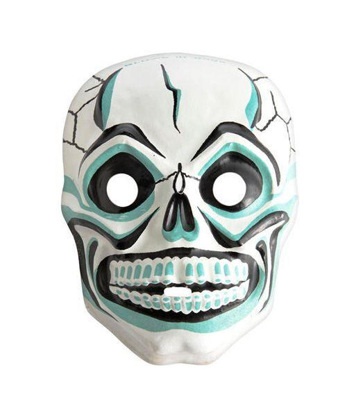 <p>Typically molded into the shape of animals or ghouls, masks dating from the 1950s and '60s—like this mid-1960s glow-in-the-dark skull—often sell for $25 to $30. (An original box can add $25 to the price.)</p>