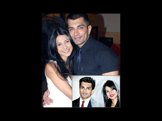 <b>4. Karan Singh Grover-Jennifer Winget</b><br>They met on an aptly named television serial – Dil Mil Gaye, a medical drama which focused more on the doctors' hearts than the patients' health. Romance did not immediately flourish because Karan was married to Shraddha Nigam back then. However, rumours began to spread and cracks began to develop in Karan's married life. Shraddha and Karan divorced and Karan got hitched to Jennifer in a beautiful wedding ceremony.