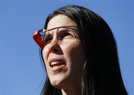 Defendant Cecilia Abadie, wearing Google Glass, arrives at a traffic court in San Diego