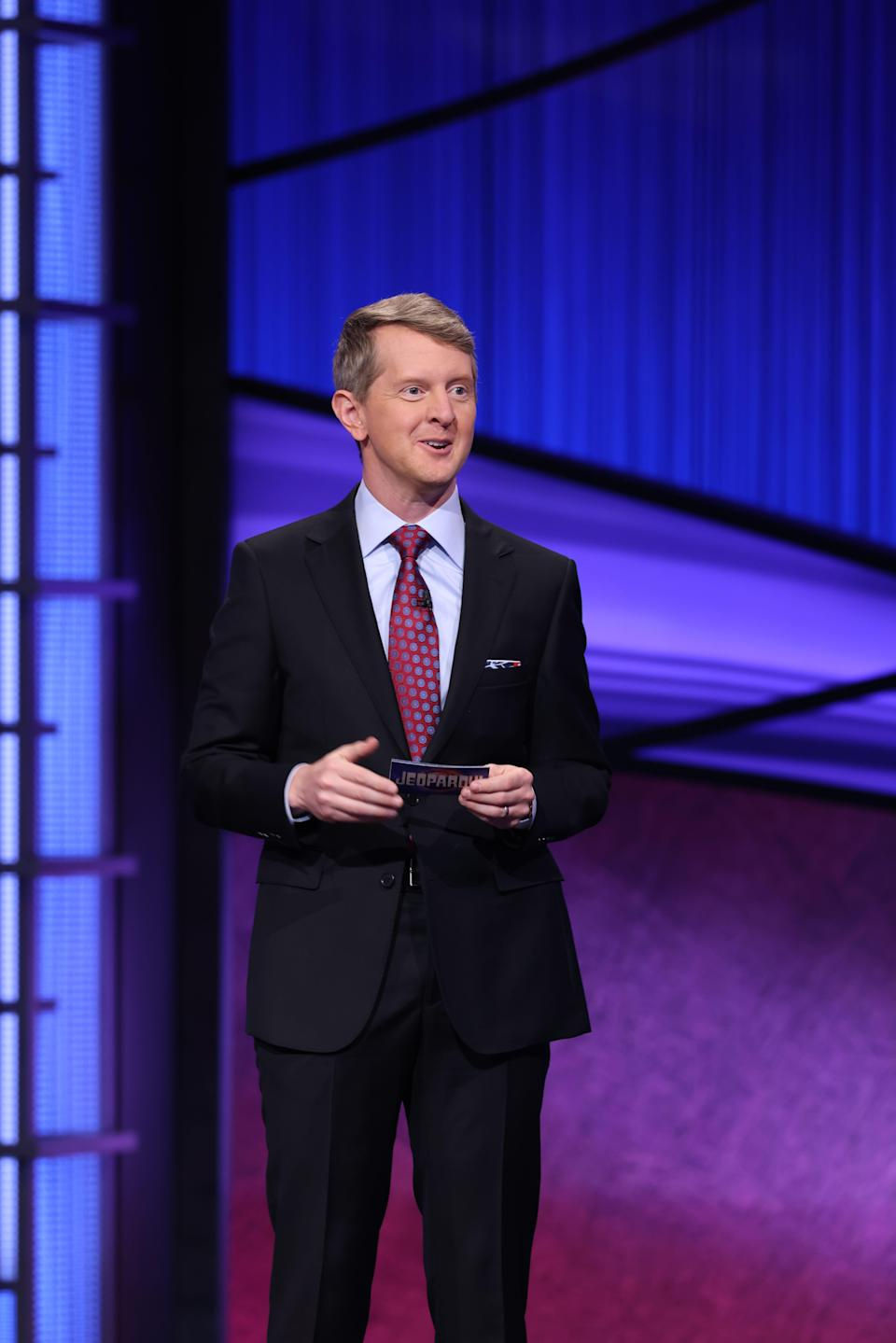 """""""Jeopardy!"""" Greatest of All Time champion Ken Jennings was the first guest host, for a six-week stint that began Jan. 11, following Alex Trebek's final episode."""