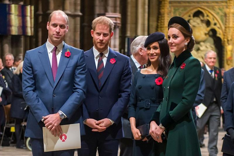 Prince William, Prince Harry, Meghan Markle and Kate Middleton | Paul Grover- WPA Pool/Getty