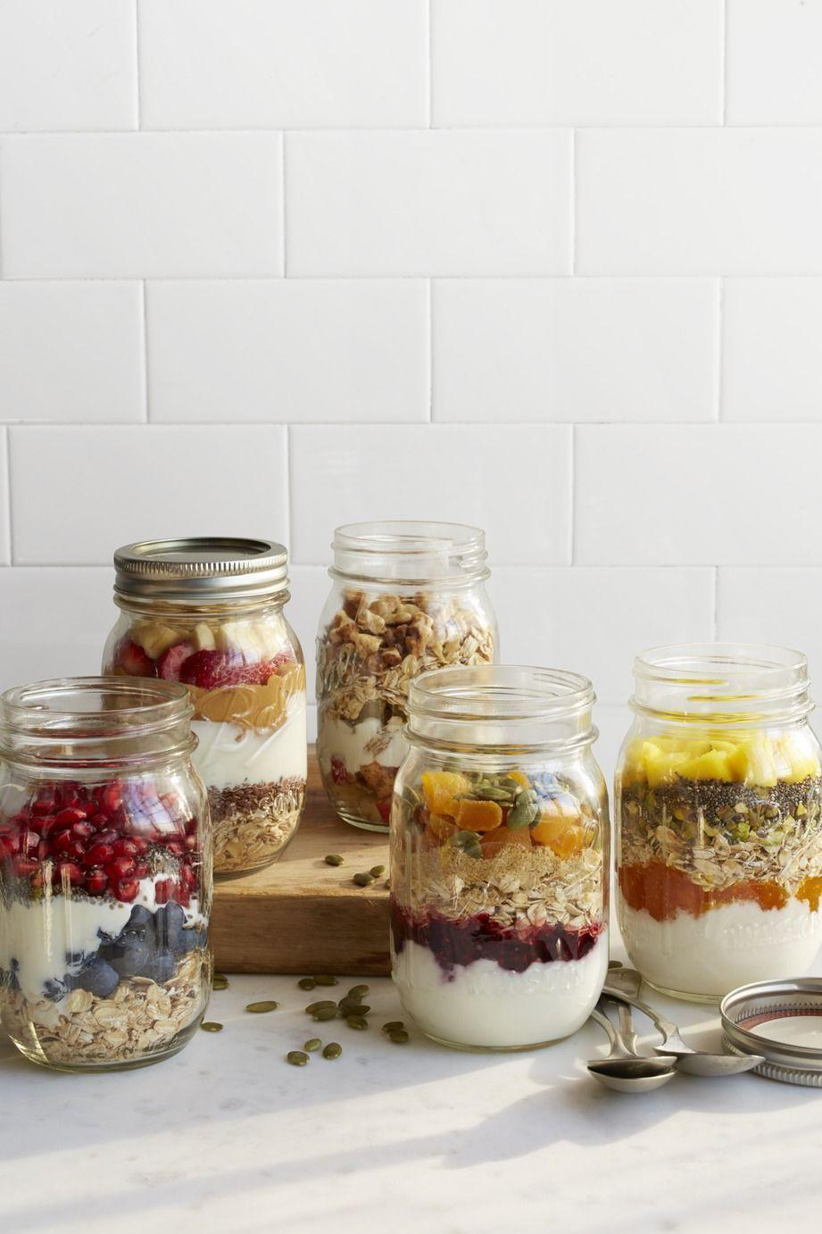 """<p>Overnight oats is a classic no-cook breakfast for many enterprising home cooks. A banana and strawberry granola combo is a great base for milk or fresh juice in the morning.</p><p><em><a href=""""https://www.womansday.com/food-recipes/food-drinks/recipes/a51533/peanut-butter-banana-strawberry-jars/"""" rel=""""nofollow noopener"""" target=""""_blank"""" data-ylk=""""slk:Get the recipe from Woman's Day »"""" class=""""link rapid-noclick-resp"""">Get the recipe from Woman's Day »</a></em></p>"""