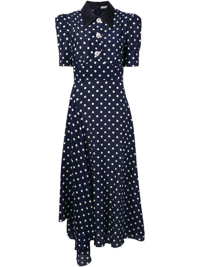 Polka dot dress by Alessandra Rich, £1,771 (Farfetch)
