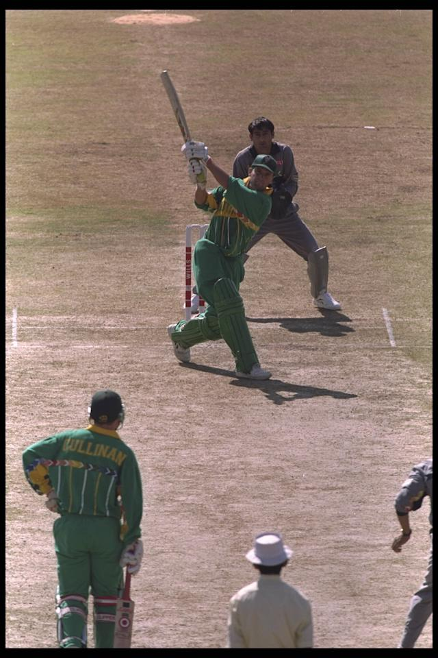 15 Feb 1996:  Gary Kirsten of South Africa in action during his innings of 188 against the United Arab Emirates at the cricket world cup in Rawalpindi, Pakistan.