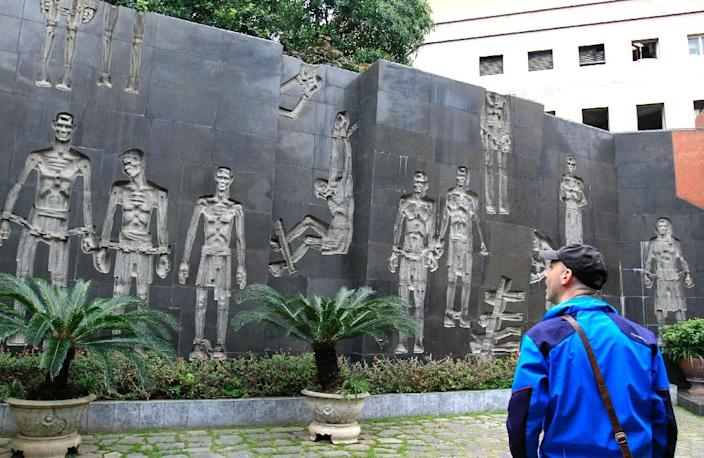Hoa Lo prison, which has been turned into a museum, was home to 500 prisoners of war when McCain was held there (AFP Photo/Nhac NGUYEN)