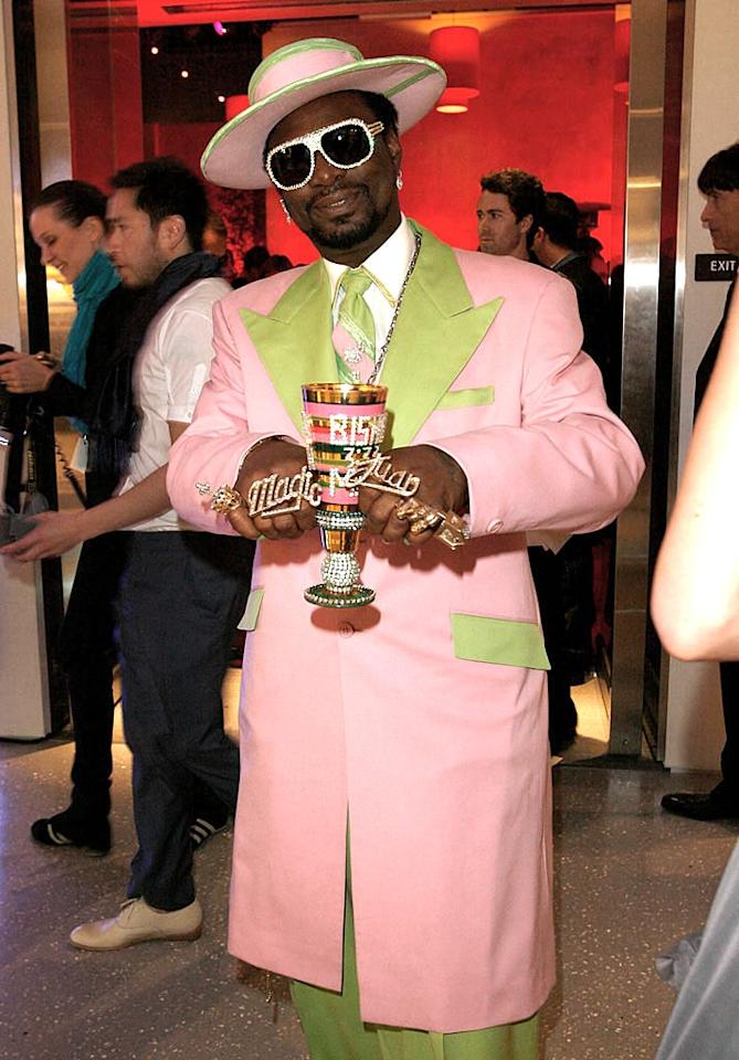 """What's flashier? Archbishop Magic Don Juan's outfit or his bejeweled pimp cup? Donato Sardella/<a href=""""http://www.wireimage.com"""" target=""""new"""">WireImage.com</a> - May 13, 2008"""