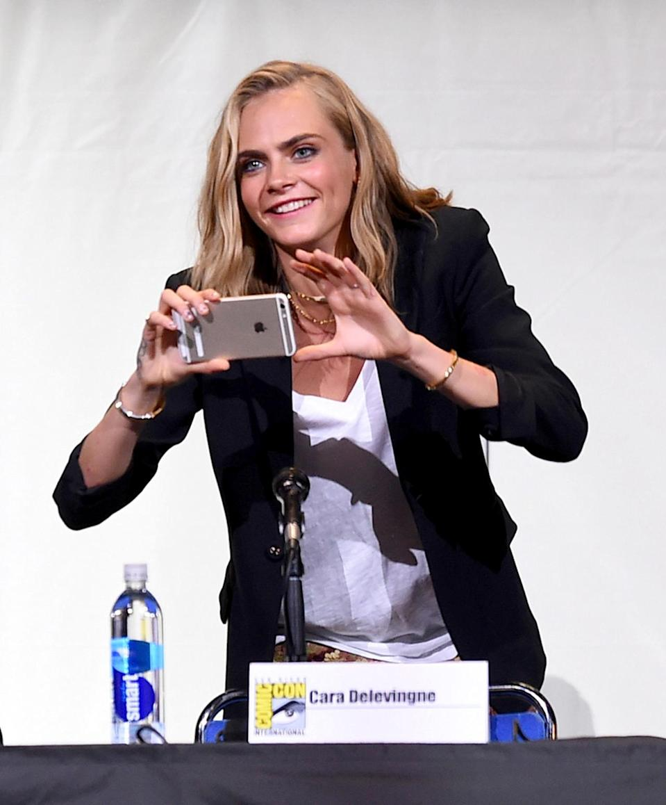 <p>Star Cara Delevingne on July 21. <i>(Photo: Kevin Winter/Getty Images)</i></p>