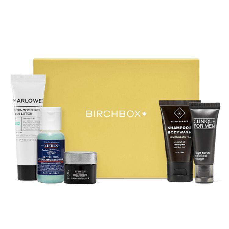 """<p><strong>Birchbox</strong></p><p>birchbox.com</p><p><strong>$110.00</strong></p><p><a href=""""https://go.redirectingat.com?id=74968X1596630&url=https%3A%2F%2Fwww.birchbox.com%2Fsubscribe%2Fmen&sref=https%3A%2F%2Fwww.bestproducts.com%2Flifestyle%2Fg291%2Ftiny-stocking-stuffers-for-everyone%2F"""" rel=""""nofollow noopener"""" target=""""_blank"""" data-ylk=""""slk:Shop Now"""" class=""""link rapid-noclick-resp"""">Shop Now</a></p><p>After filling out a grooming profile, Birchbox Man will put together a selection of five grooming samples to try each month. Your recipient will be able to find his new favorite hair products, face washes, and lotions without spending a fortune. Choose between 1-month, 6-month, or year-long subscriptions.</p><p><strong>More:</strong> <a href=""""https://www.bestproducts.com/mens-style/a15393566/reviews-curated-subscription-boxes-for-men/"""" rel=""""nofollow noopener"""" target=""""_blank"""" data-ylk=""""slk:Your Guide to the Best Men's Subscription Boxes"""" class=""""link rapid-noclick-resp"""">Your Guide to the Best Men's Subscription Boxes</a></p>"""