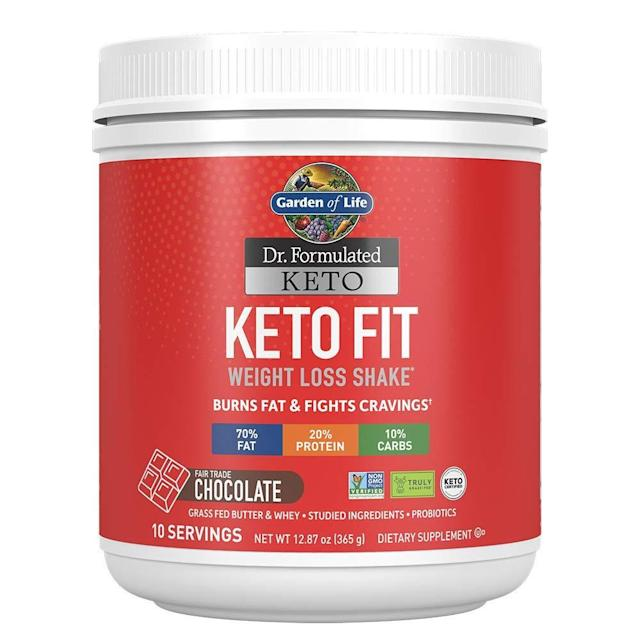 Garden of Life Dr. Formulated Keto Fit Weight Loss Shake. (Photo: Amazon)