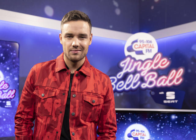 Liam Payne backstage in the on air studio during day one of Capital's Jingle Bell Ball with Seat at London's O2 Arena. (Photo by Lauren Hurley/PA Images via Getty Images)