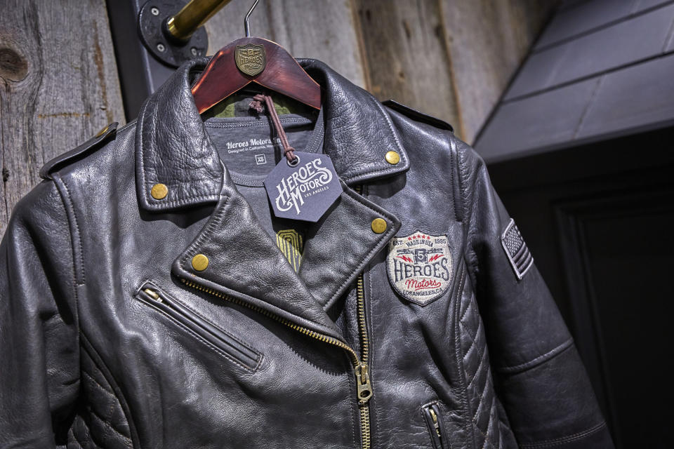 The leather jackets from Heroes Motors.
