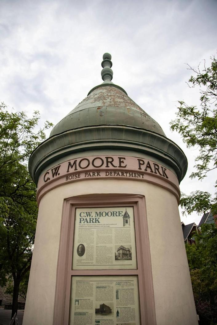 CW Moore Park is located at the corner of Grove Street and 5th Street. The city is looking to completely redesign the three blocks of Grove Street between 3rd and 6th Streets downtown.
