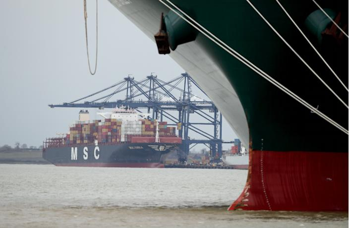 According to figures from the Office for National Statistics (ONS) on Friday, imports from outside the EU hit an all-time high of £20.1bn worth of goods during the month, the most since records began in January 1997. Photo: Peter Cziborra/Reuters