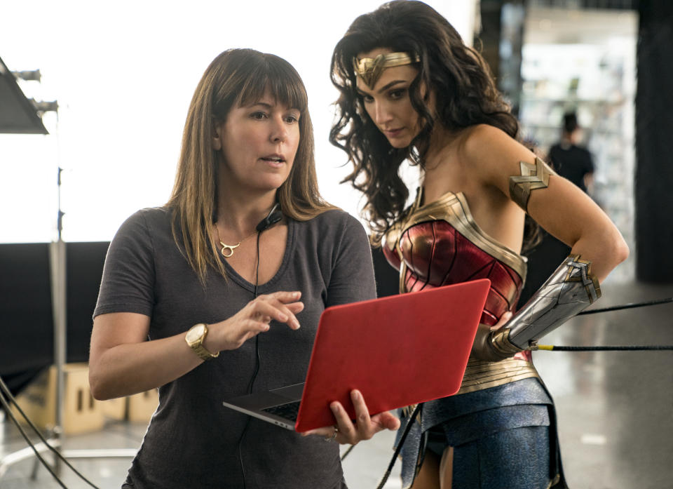 Patty Jenkins and Gal Gadot on the set of 'Wonder Woman 1984' (Warner Bros.)