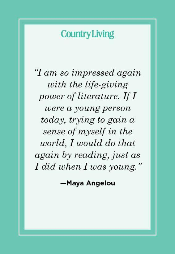 """<p>""""I am so impressed again with the life-giving power of literature. If I were a young person today, trying to gain a sense of myself in the world, I would do that again by reading, just as I did when I was young."""" </p>"""