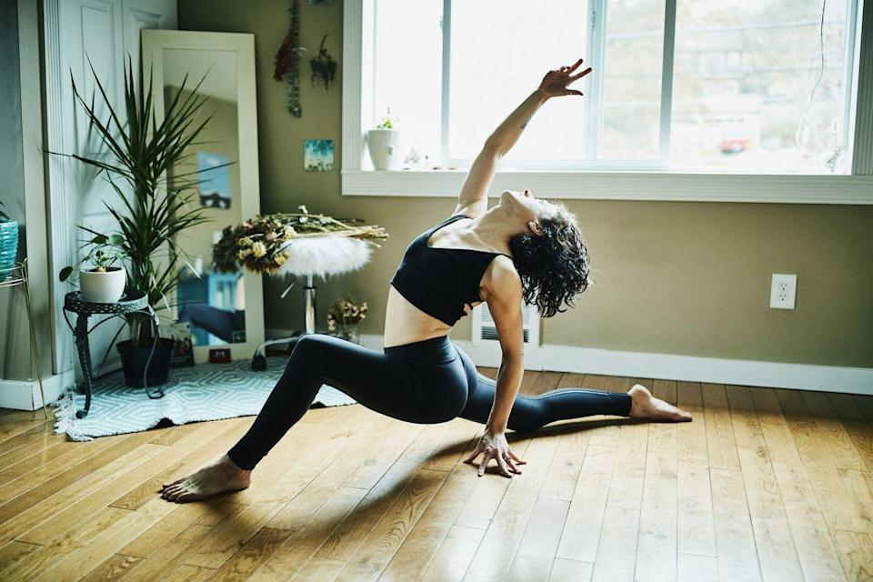 """<p>A <a href=""""https://www.beingpatient.com/yoga-brain-alzheimers/"""" rel=""""nofollow noopener"""" target=""""_blank"""" data-ylk=""""slk:review of 11 studies"""" class=""""link rapid-noclick-resp"""">review of 11 studies</a> found that yoga may help keep the brain healthy, boost memory, and lower the risk of diseases like Alzheimer's. It makes sense since it hits on several other items on this list: yoga can help relieve stress, it's a form of exercise, and it can help you maintain a healthy weight. </p>"""