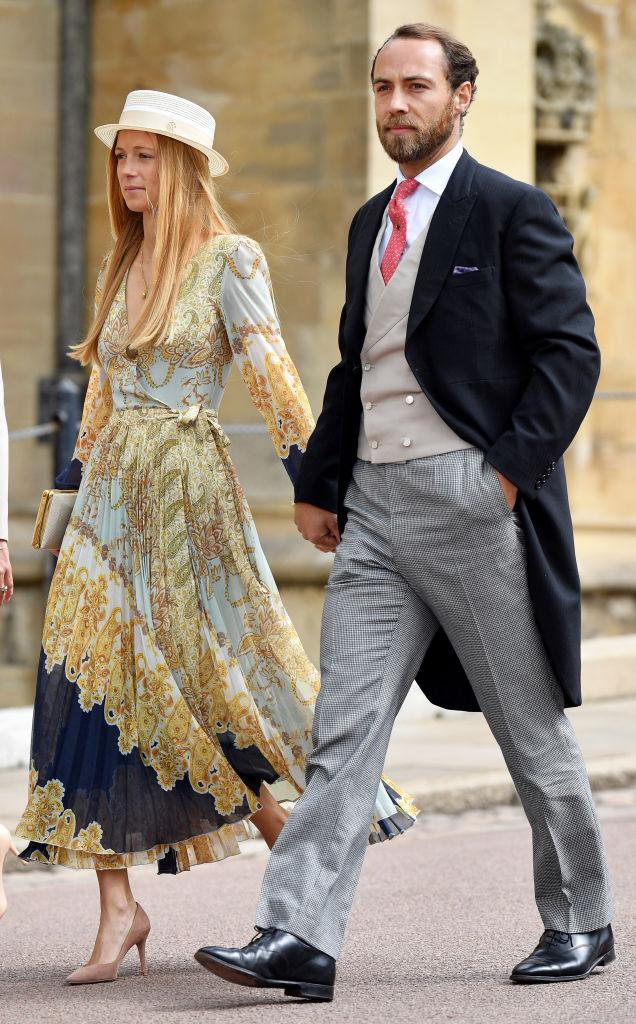 Alizee Thevenet and James Middleton attend the wedding of Lady Gabriella Windsor and Thomas Kingston in May 2019. (Photo by Pool/Max Mumby/Getty Images)