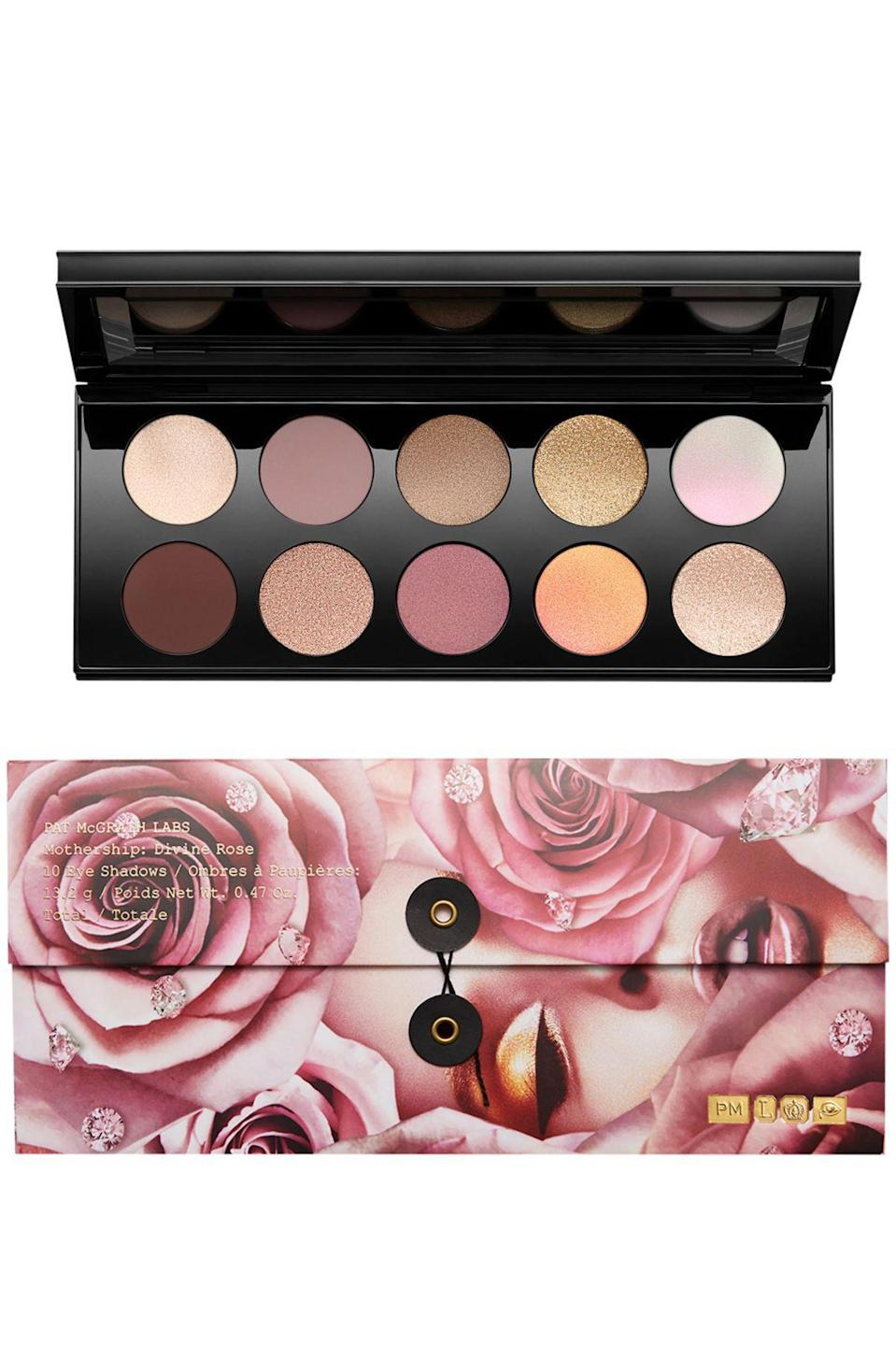 """<p><strong>Pat McGrath Labs</strong></p><p>sephora.com</p><p><a href=""""https://go.redirectingat.com?id=74968X1596630&url=https%3A%2F%2Fwww.sephora.com%2Fproduct%2Fpat-mcgrath-labs-mothership-vii-eyeshadow-palette-divine-rose-collection-P458276&sref=https%3A%2F%2Fwww.marieclaire.com%2Fbeauty%2Fg36077526%2Fsephora-spring-savings-event-2021%2F"""" rel=""""nofollow noopener"""" target=""""_blank"""" data-ylk=""""slk:SHOP IT"""" class=""""link rapid-noclick-resp"""">SHOP IT </a></p><p><strong><del>$125</del> $100 (20% off)</strong></p><p>Anyone who has really missed wearing eyeshadow should add Pat McGrath's palette to their cart. Whether you prefer a dramatic smoky eye or a no-makeup look, this palette has a look for everyone. </p>"""