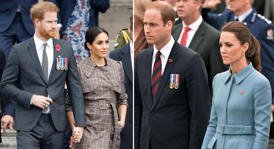 Meghan and Harry visited New Zealand last year, while Kate and William travelled there in 2014 [Photos: Getty/PA]