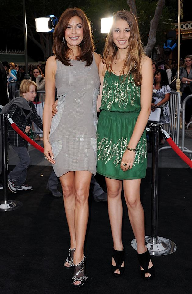 """<a href=""""http://movies.yahoo.com/movie/contributor/1800026425"""">Teri Hatcher</a> and daughter attend the Disneyland premiere of <a href=""""http://movies.yahoo.com/movie/1809791042/info"""">Pirates of the Caribbean: On Stranger Tides</a> on May 7, 2011."""