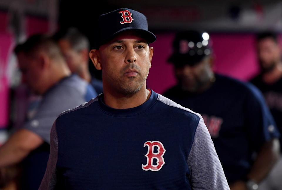 Former Red Sox manager Alex Cora accepts responsibility for role in Astros' sign-stealing scheme. (Photo by Keith Birmingham/MediaNews Group/Pasadena Star-News via Getty Images)