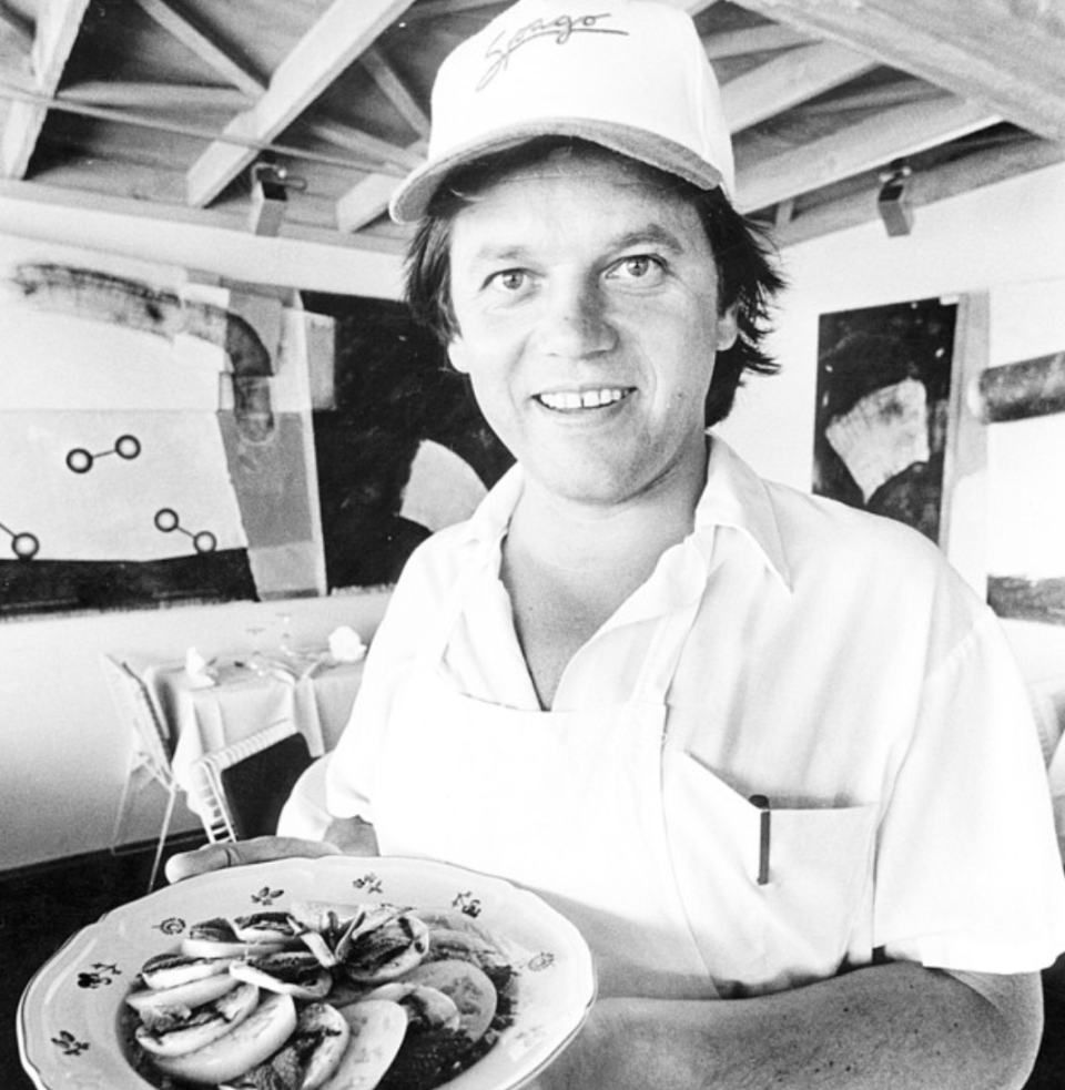 Wolfgang Puck at Spago in 1983. Photo: Larry Davis / Getty Images