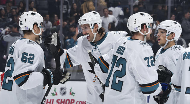 Don't look now but the Sharks are right back in the playoff mix. (Photo by Adam Pantozzi/NHLI via Getty Images)