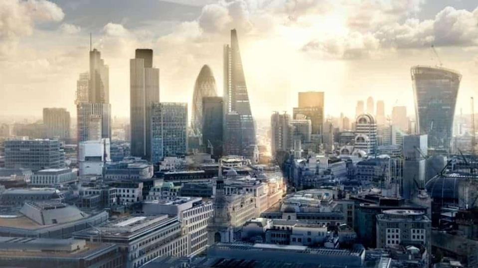Scene depicting the City of London, home of the FTSE 100