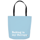 """<p>countryliving.com</p><p><strong>$25.00</strong></p><p><a href=""""https://shop.countryliving.com/baking-is-my-therapy-tote-bag.html"""" rel=""""nofollow noopener"""" target=""""_blank"""" data-ylk=""""slk:Shop Now"""" class=""""link rapid-noclick-resp"""">Shop Now</a></p><p>Keep calm and bake on, as Ina Garten once said. This tote is roomy enough for all your baggage…and maybe some snacks too.18""""x18"""" tote bag with cotton web handles featuring double stitched seams for durability. <em>Please note, this item is printed on demand just for you and is Final Sale</em></p>"""