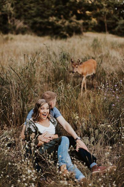 PHOTO: Photographer Eldina Kovacevic said the deer hung around the shoot for about 10 minutes. (Courtesy Eldina Kovacevic/Inna Kova Photography)