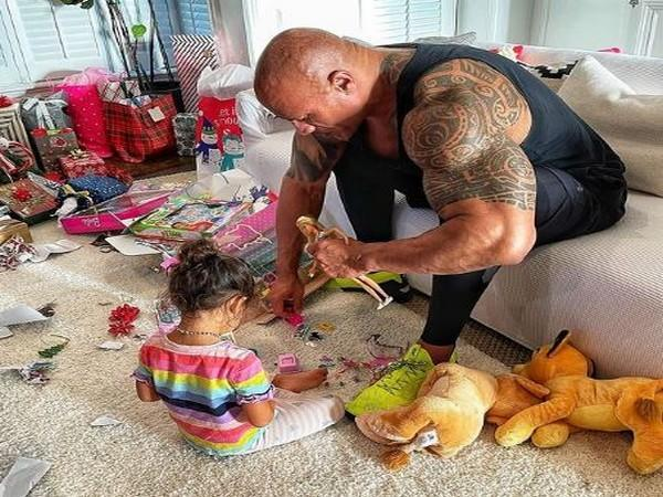 Dwayne Johnson with daughter Tiana (Image Source: Instagram)