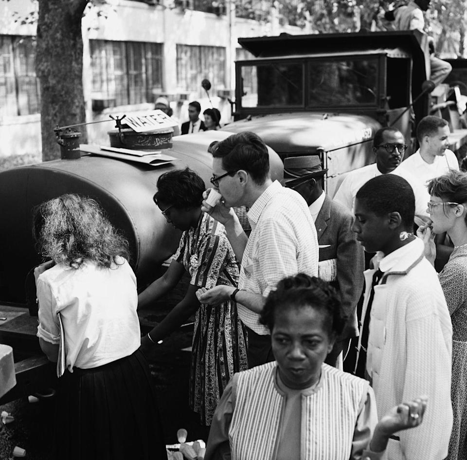 <p>Segregation was still rife in the United States. Even the simple act of drinking water together was a protest. </p>